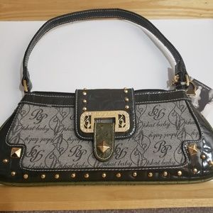 Baby Phat small bag dark green trim